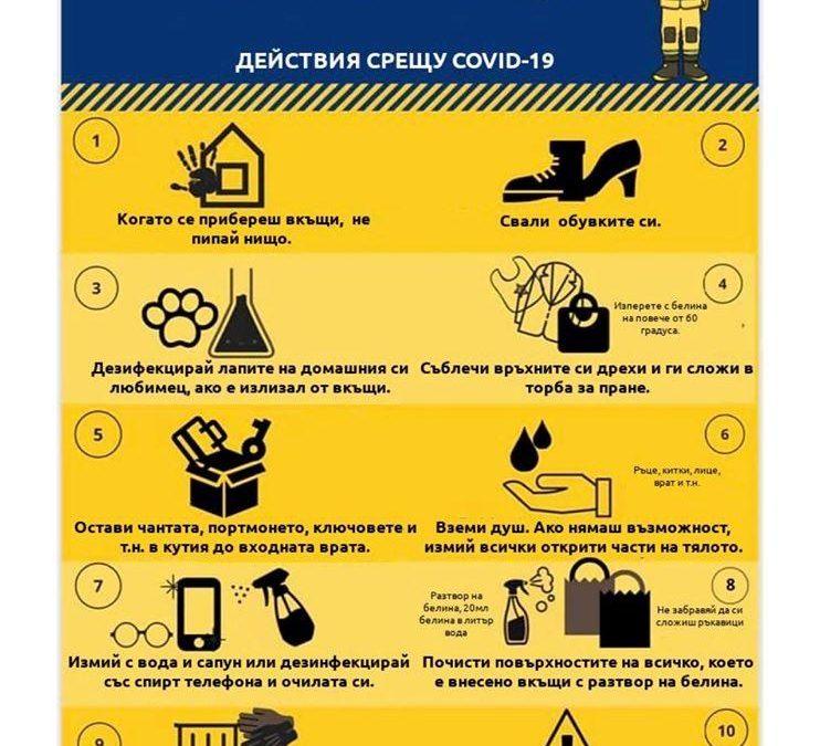 Инструкции за употреба и санитарна обработка на еднократните маски за индивидуална защита от COVID-19
